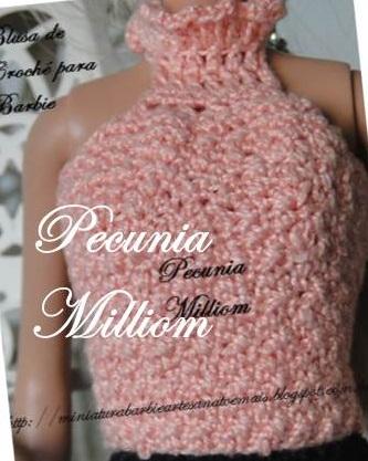 Blusa para Barbie por Pecunia MM