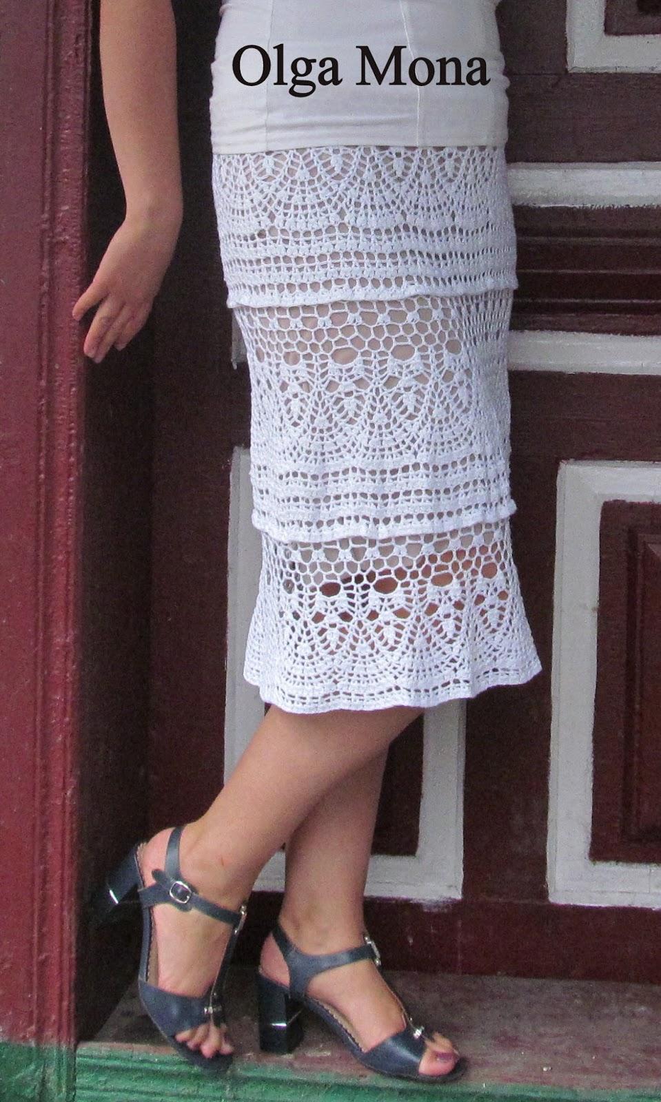 Ажурная юбка - схема вязания 34