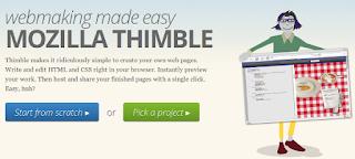 mozilla thimble homepage