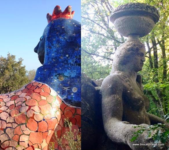 Italian artistic park Capalbio Bomarzo