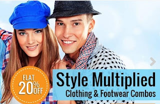 Flat 20% Additional Off on Combos of Footwear | Clothing | Accessories at HomeShop18