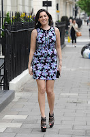 Kelly Brook spotted in a short dress