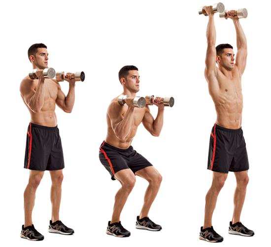Dumbbell front squat Dumbbell Front Squats