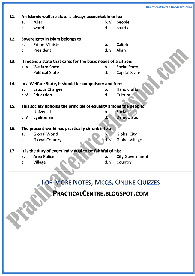 pakistan-a-welfare-state-mcqs-pakistan-studies-9th