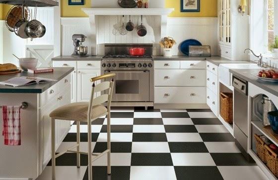 Model Keramik Lantai Dapur Hitam Putih