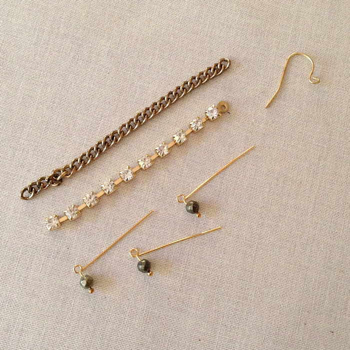Materials to make simple earrings in under 30 minutes