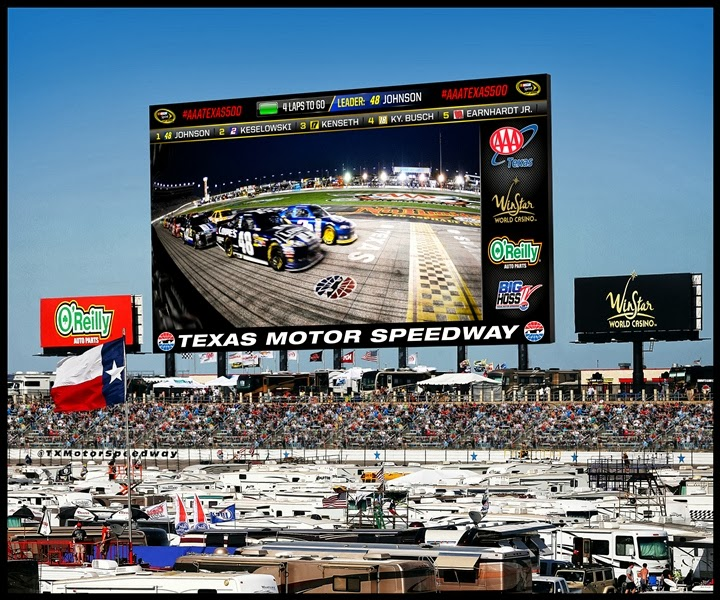 Texas motor speedway panasonic creating world 39 s largest for Texas motor speedway driving experience
