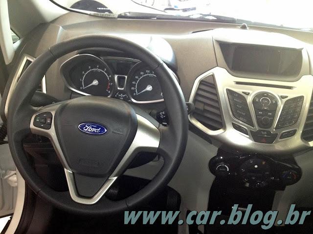 Novo Ford EcoSport 2013 - interior - por dentro - painel