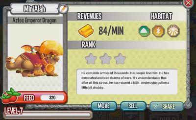 Informações do Dragão Imperador Asteca