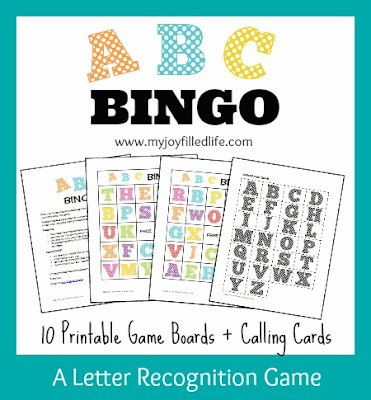 5 days of letter recognition activities abc bingo my joy filled life save spiritdancerdesigns Image collections
