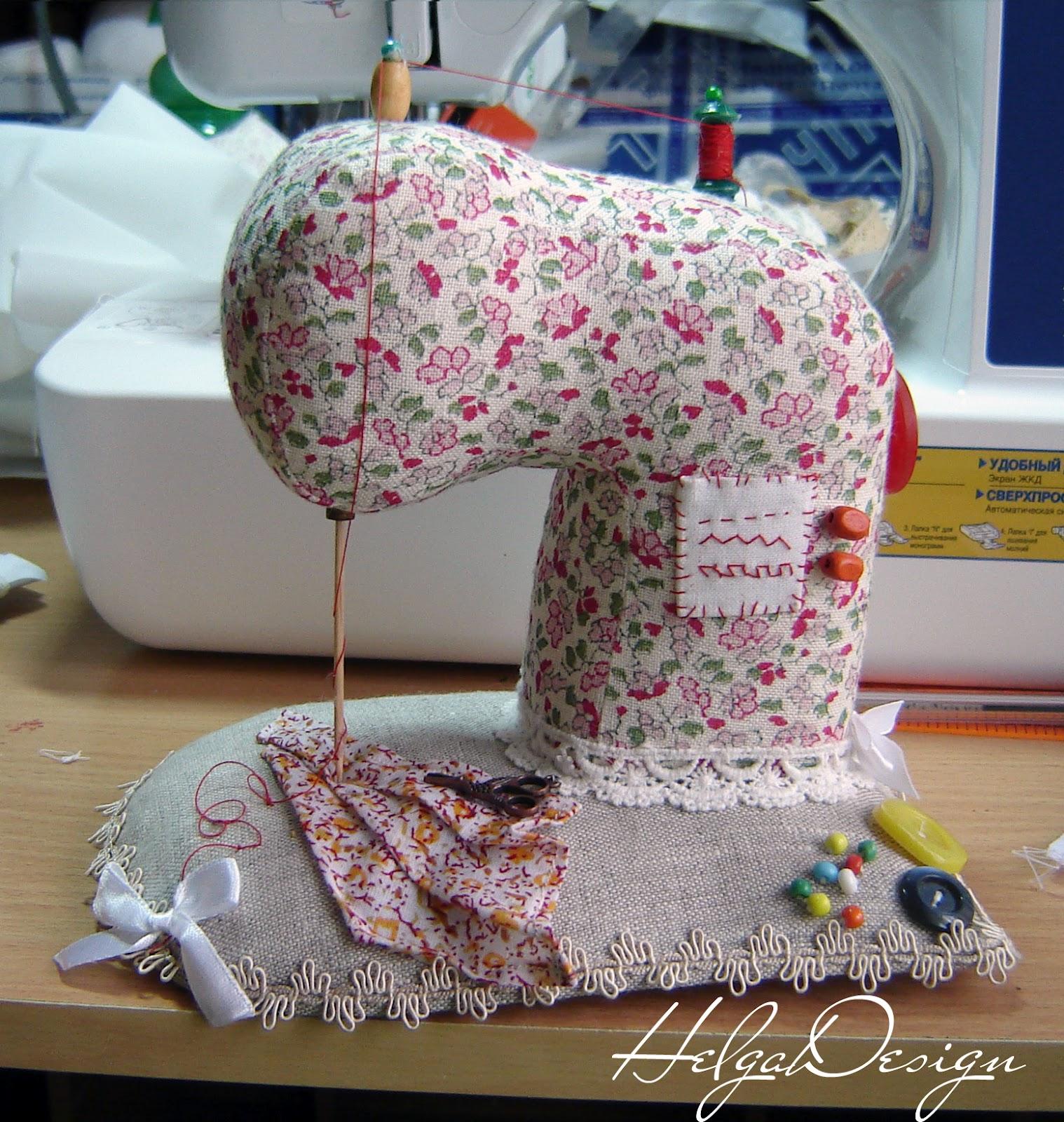 Сшить игольницу на швейную машинку