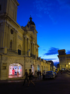 Santiago de Cuba twilight at the cathedral