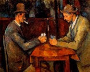 """TEMA nº 14.- Pintura  del Postimpresionismo - Paul Cezanne - """"Los jugadores de cartas""""."""