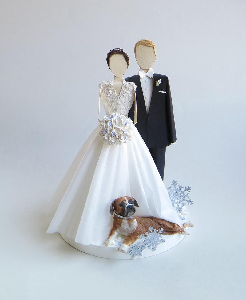 Бумажные жених и невеста как сделать
