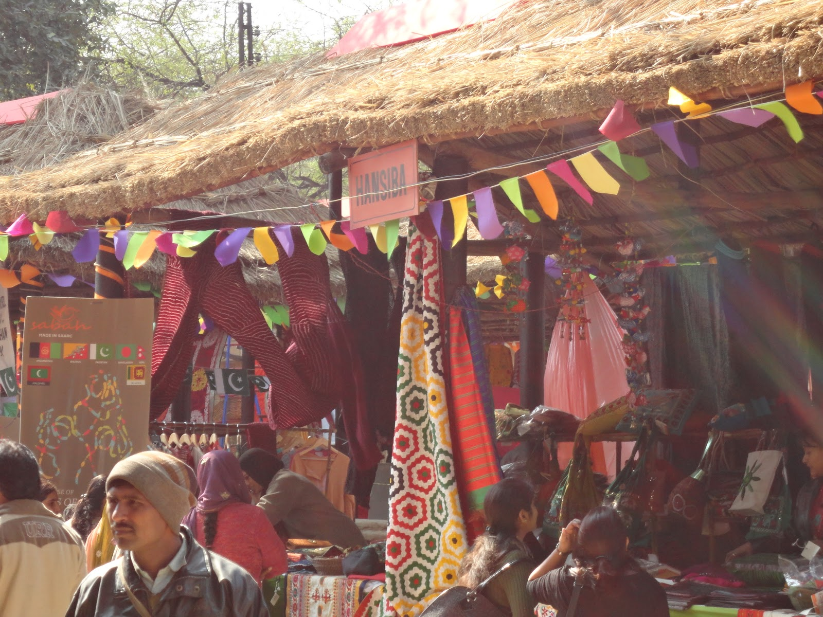 The Hansiba Stall at Surajkund Crafts Mela,India