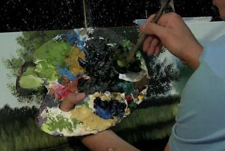 Dark Water Time Lapse Speed Painting