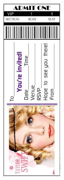 Taylor Swift Birthday Invitations Choice Image Invitation
