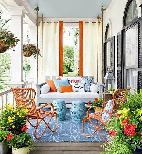 Top Coastal Summer Porches Decor Ideas