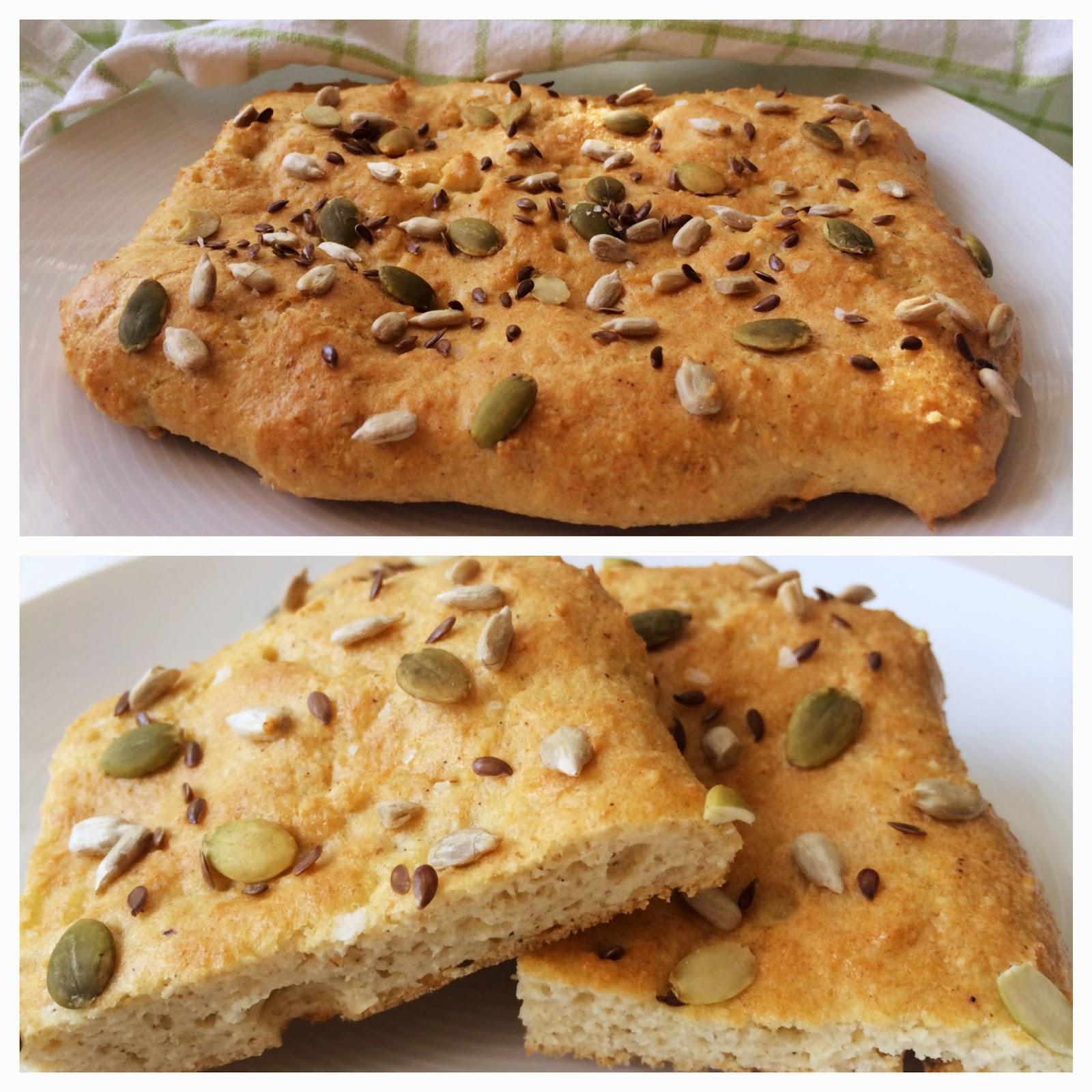 focaccia bröd med bakpulver
