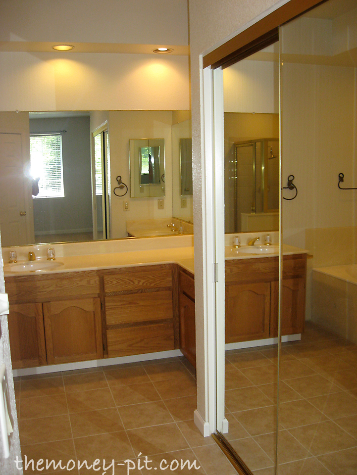 As You Walk In From The Master Bedroom This Is What You See Mirrored Closet Doors To The Right