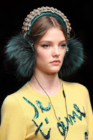 Dolce & Gabbana AW15 x Frends Embellished Teal Earmuff Headphones | Photo: Marcus Tondo / Indigitalimages.com