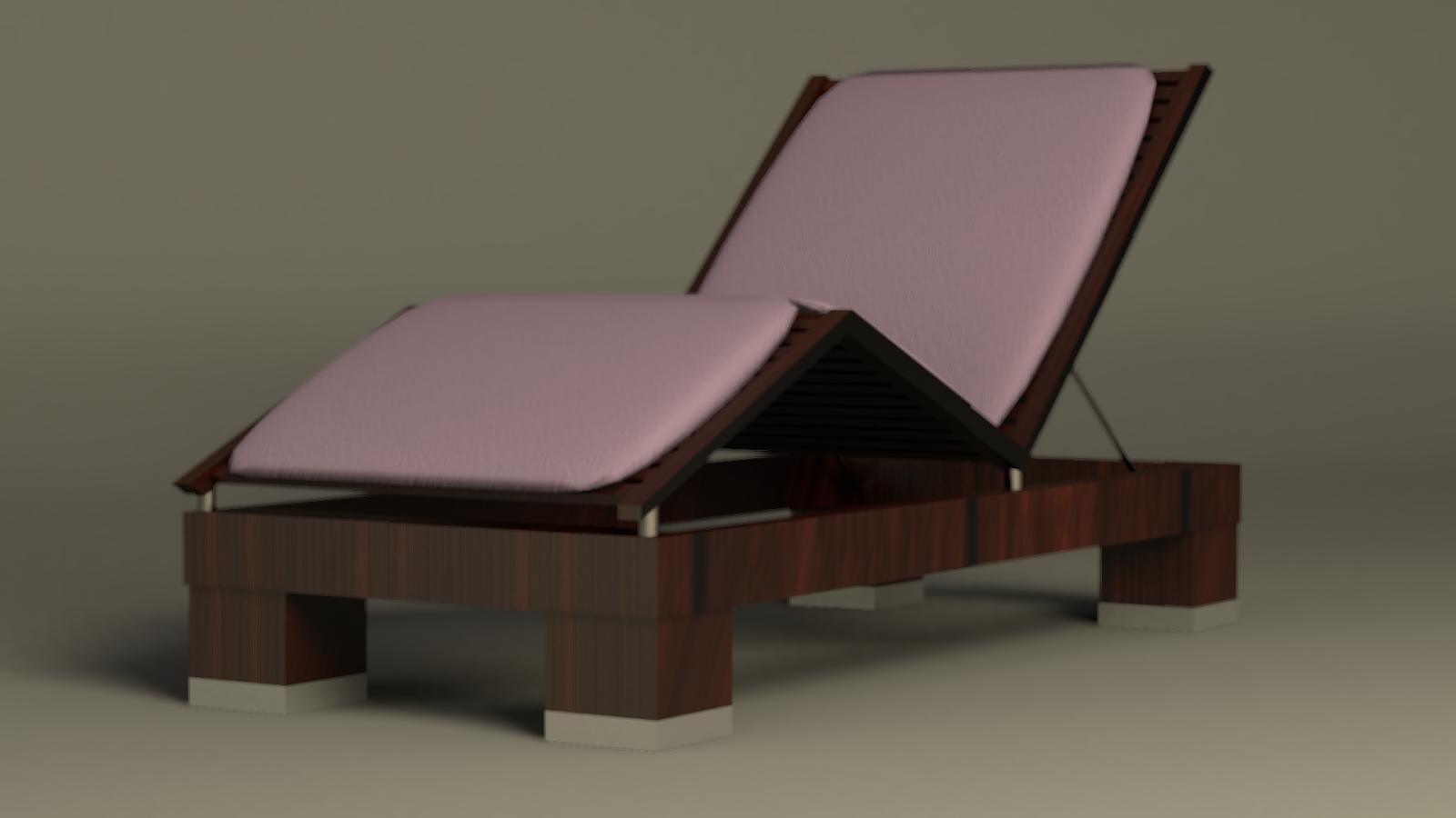 ÍcaroFillip 3D: Cadeira de madeira para piscina Blender 2.64 Cycles #312820 1600x900