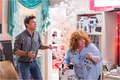 Escena de la película Por la cara, protagonizada por Jason Bateman y Melissa McCarthy, en la foto como Sandy Patterson y Diana. LA TAQUILLA. Making Of