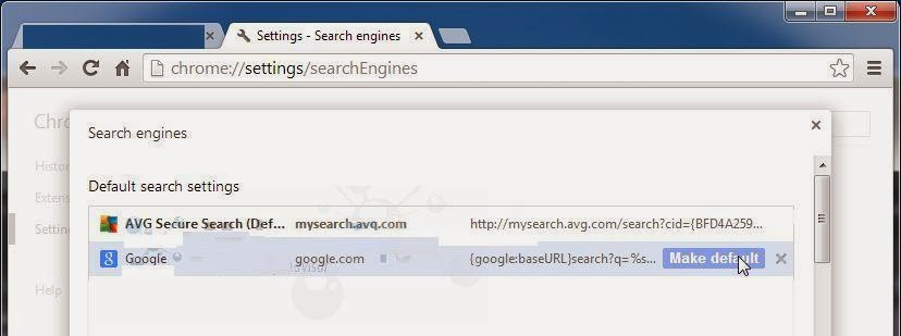 how to remove unwanted search engines from google chrome
