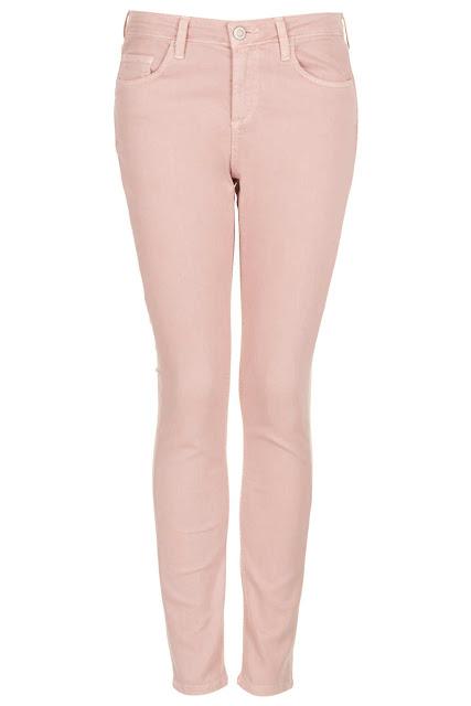 pastel pink, pink jeans,