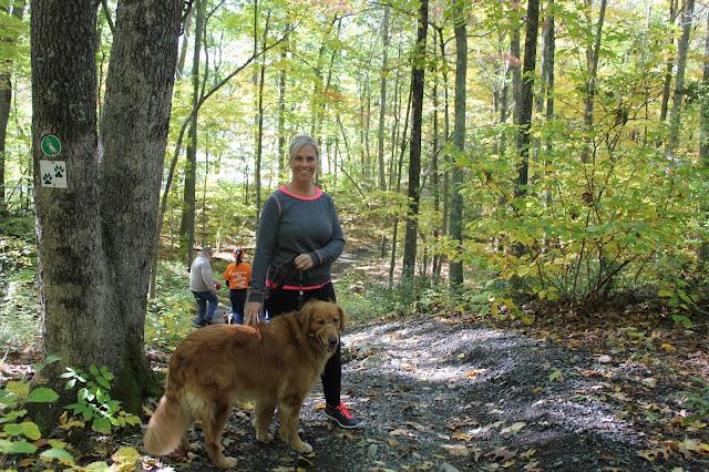 Dog hiking the Pequot Trails #Walktober Lantern Hill