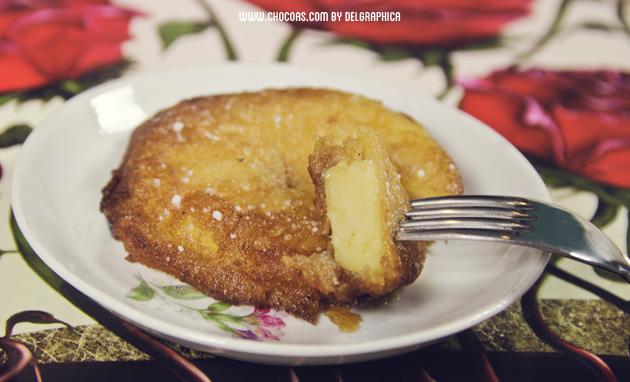 Anillo frito manzana