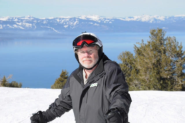 Bill at Heavenly Ski Resort, California,  Lake Tahoe in the background, 2012