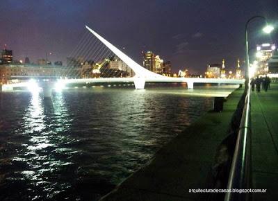Puente de la Mujer obra de Calatrava