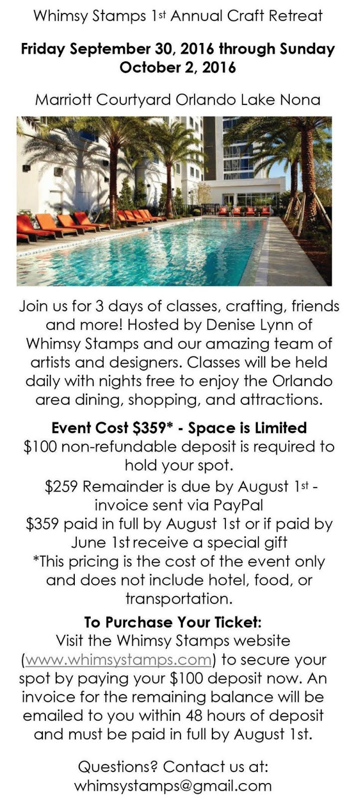 Whimsy Stamps Retreat
