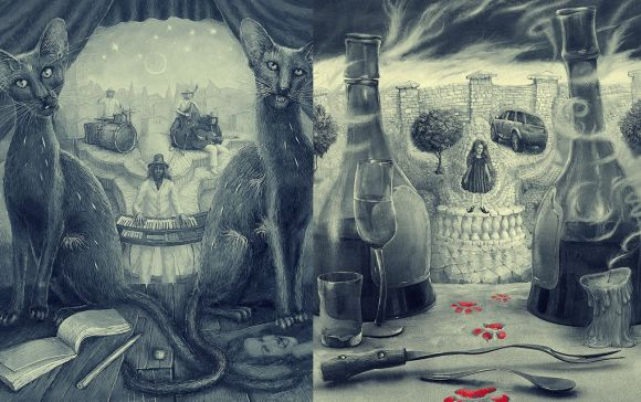 Andrew Ferez 25kartinok deviantart ilustrações sombrias surreais Detetive