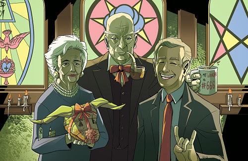 Satanista Aleister Crowley y su nieto George W. Bush