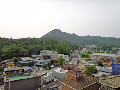 The view from the uphill of Bukchon Hanok Village Seoul