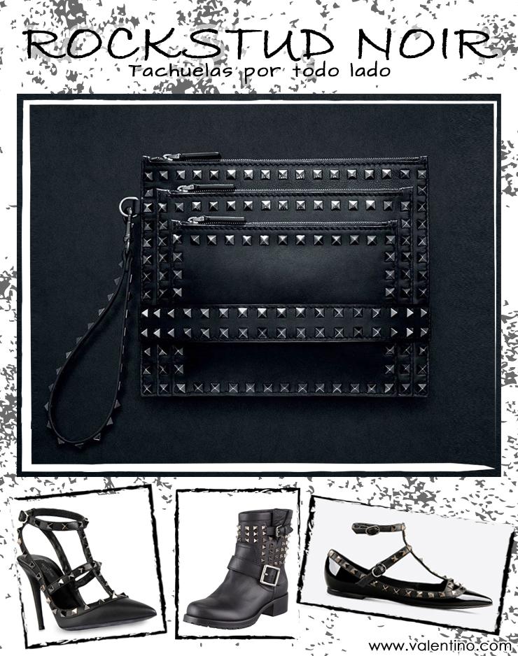 inspiración diy bolso de mano VALENTINO RockStud Noir