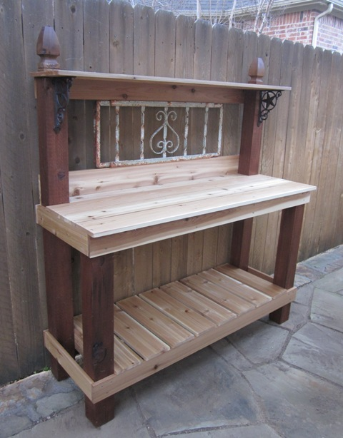 How To Build A Potting Bench with Style DIY Project | The Homestead ...