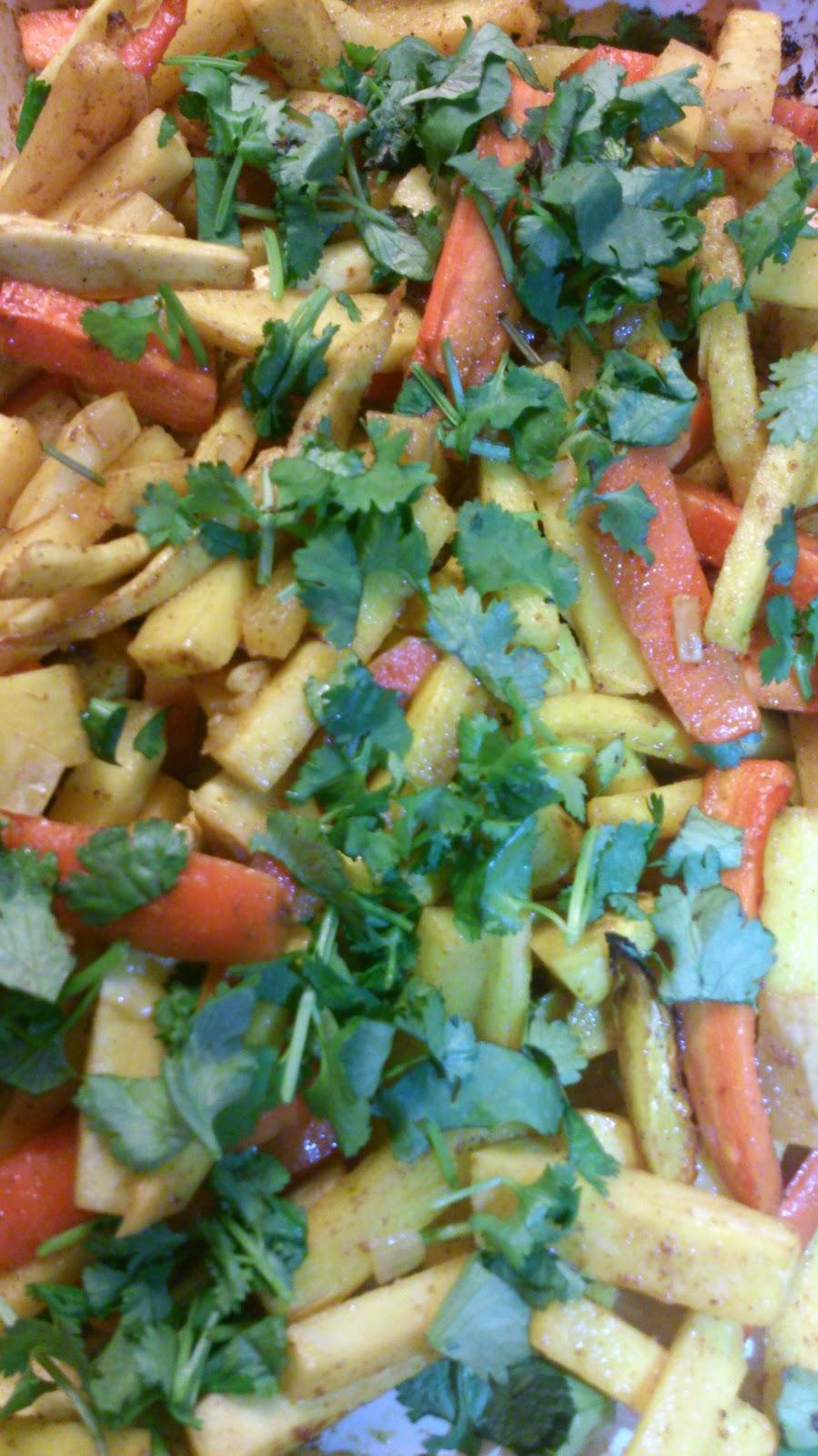 Geroosterde wortelgroenten