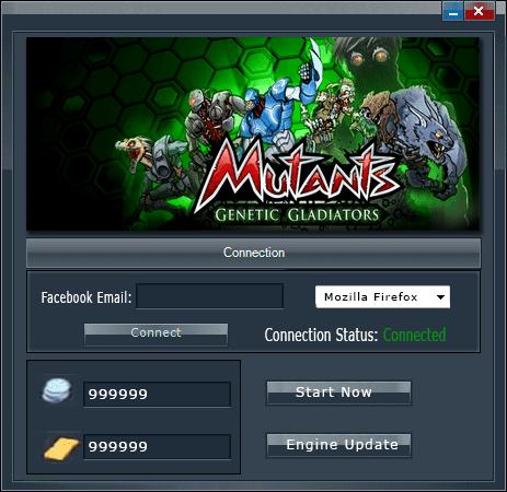 Mutants Genetic Gladiators - Hack Tool v3.1 [no survey] main screen