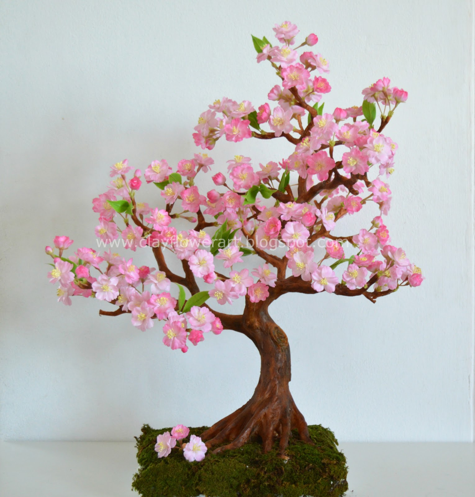 Cherry Blossom Clay Flower Art