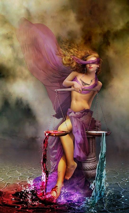 Zodiaco Mujer y la balanza del agua, signo Libra