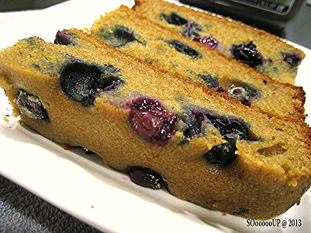 simple blueberry butter cake for tea. I used brown sugar to bake an ...