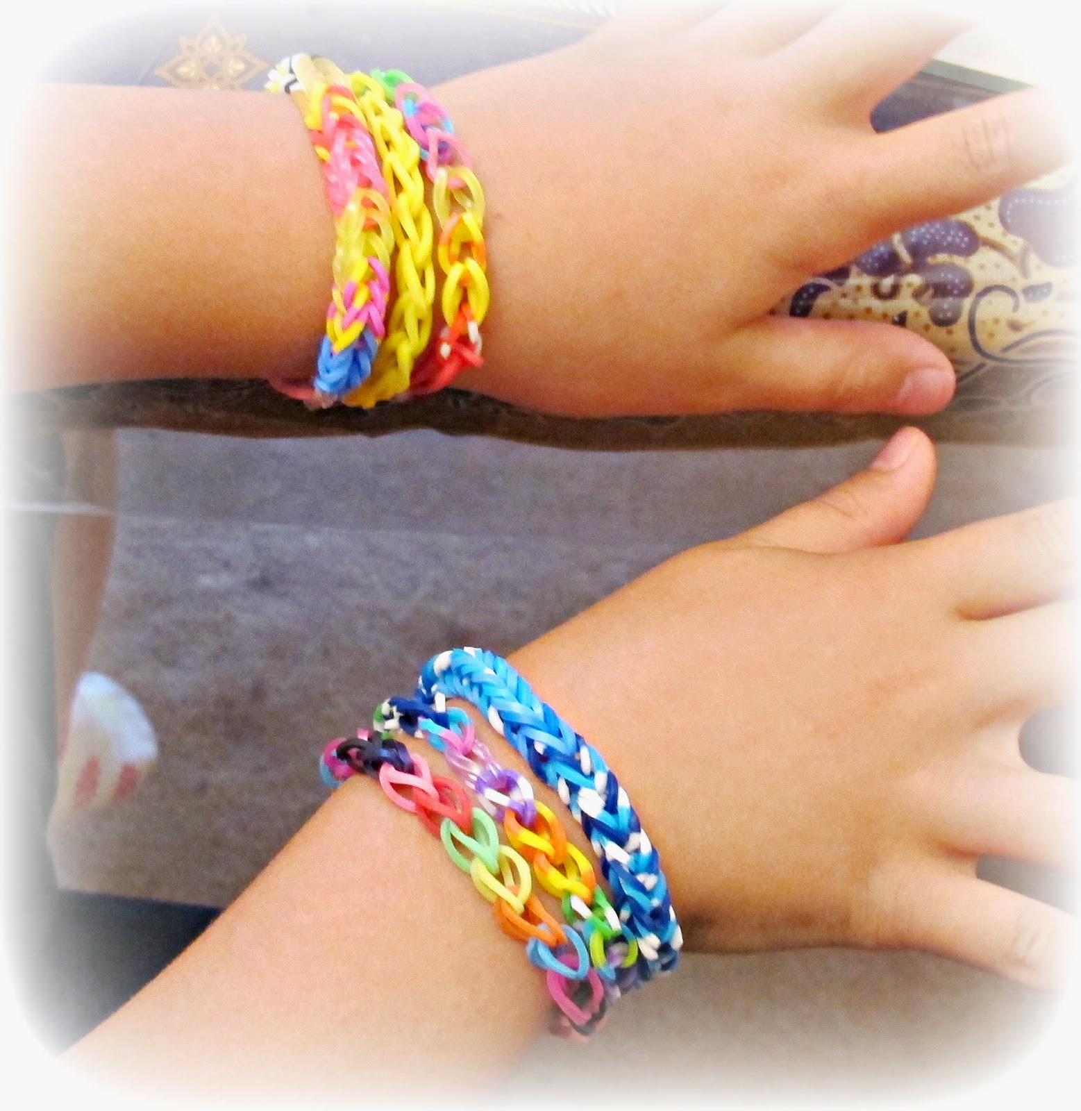 image rainbow loom bands bracelets chain link fishtail
