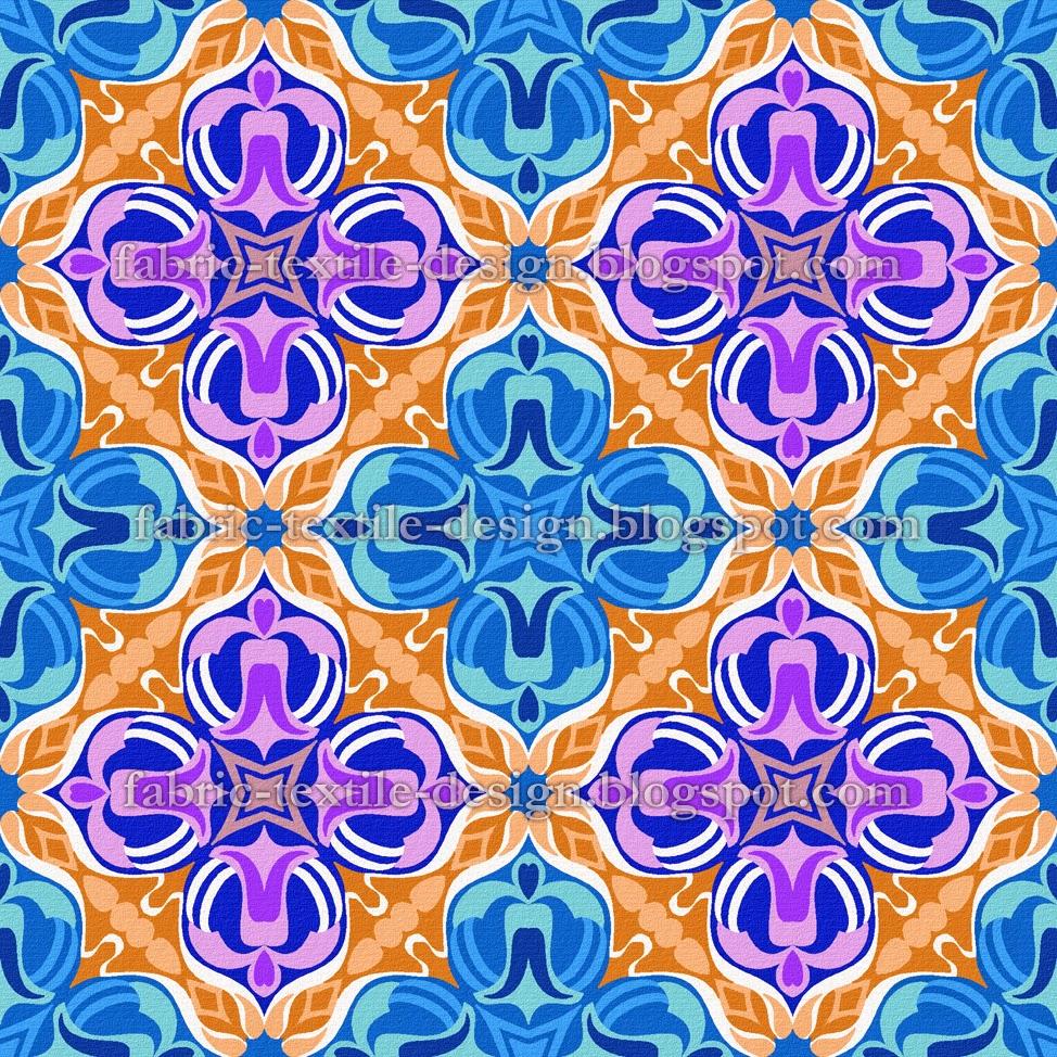 Fabric Textile Designs Textile Designs Retro Geometric