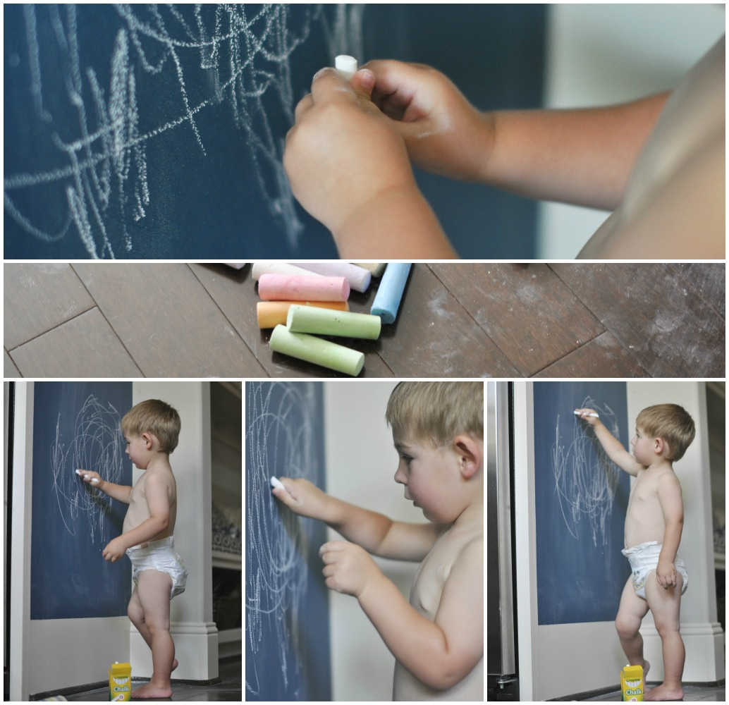 Diy Kitchen Chalkboard Wall Honey We Re Home