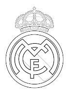REAL MADRID PARA COLOREAR