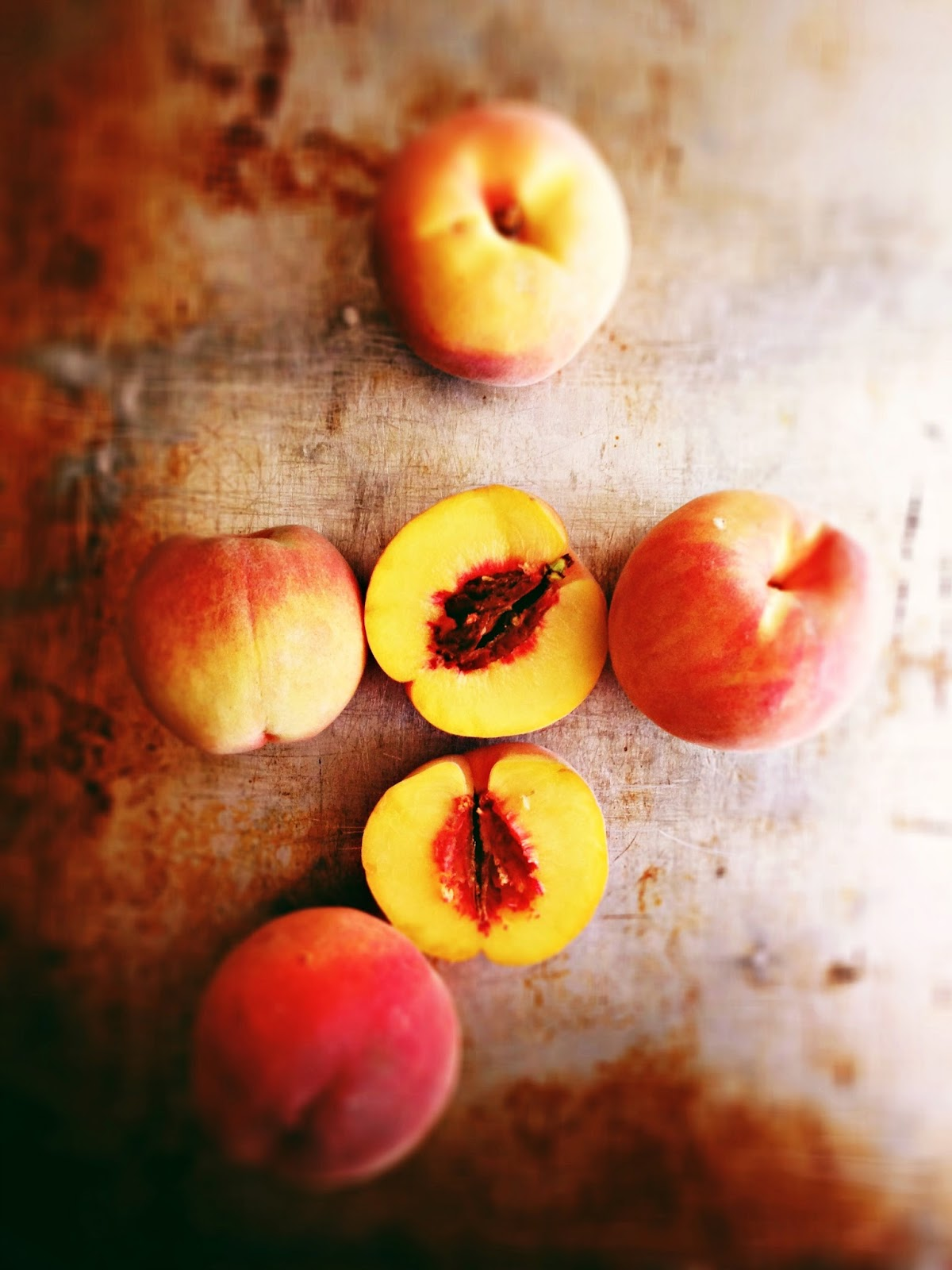 sweetsugarbean: The Last Hurrah: Baked Peaches with Almond Crust