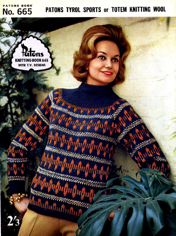 1960s vintage knitting pattern